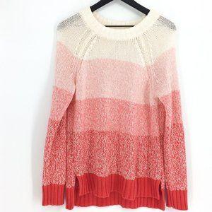 NWOT AERIE Ombre Colorblock Crewneck Sweater